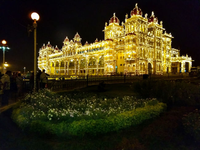 The Mysore Palace is still the official residence and seat of the Wodeyars, the #Maharajas of Mysore, which is located in Karnataka in southern India. The palace was completed in 1912 and is a blend of multiple styles of architecture: Hindu, Muslim, Rajput, and Gothic. Mobilephotography At Night Mysore Illuminated Royal Palace Palace Incredible India Architecture Architecture_collection Residential Building Indiaclicks Magnificent Illuminated City Celebration Holiday - Event Glowing Electric Light Light Bulb Lamp Bulb Electric Bulb