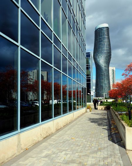 Autumn Architecture Building Exterior Built Structure City Glass Reflection Glass Windows With Reflections Skyscraper