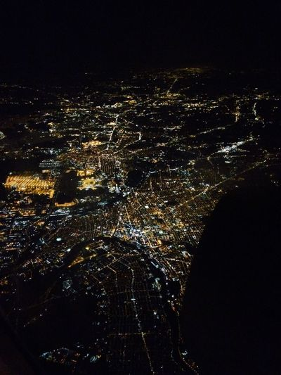 Newyork at Night . Planeview Great Views City Citylights New York Night Lights in love with this view