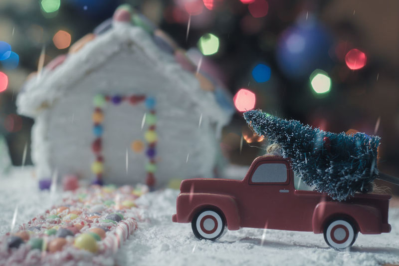 Christmas tree for the Gingerbread house Gingerbread Snow Truck Gingerbreadhouse Holiday Food Background Christmas Bokeh Night Before Christmas Gingerbread House Red Truck EyeEm Selects Food Bokeh Candy Cane Candy Candycane  Holidays Treat Christmas Winter Christmas Decoration Car Christmas Tree Red Snowing Snowflake No People