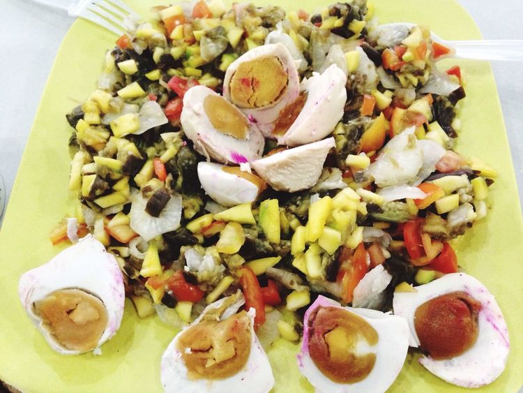 Summer Salad (salted eggs, raddish, onion and tomatoes) Food Photography Food