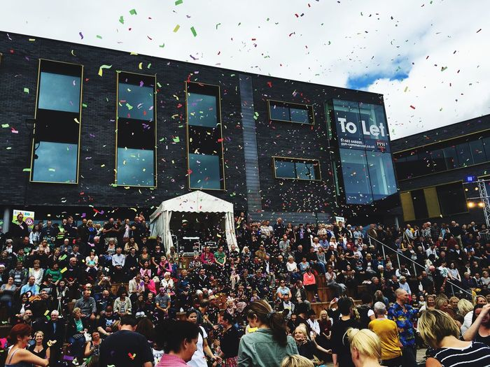 Large Group Of People Crowd Celebration Confetti Hull2017 Hull City Of Culture 2017 GetAbsolutelyCultured Cityofculture  Hull Party Time Ticker Tape Dancing