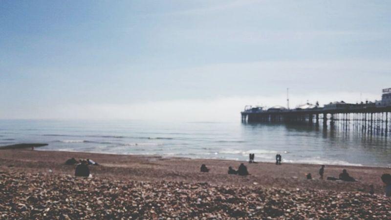 Time to relax. Taking Photos On The Beach Brighton Beach Enjoying Life Art Gallery Traveling England🇬🇧