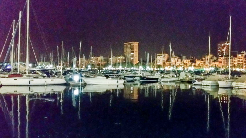 A view over Alicante Harbour. Lazyevenings Harbour View Nightphotography Nightshot