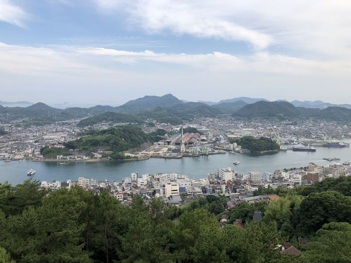 Beauty In Nature Onomichi Japan City Cityscape High Angle View River Opposite Reaching For The Sky