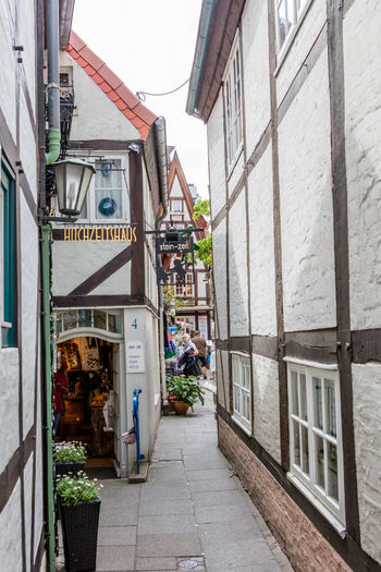 Alley Architecture Bremen Building Building Exterior City City Life Day Germany Medieval Narrow Outdoors Schnoor Schnoor In Bremen Store