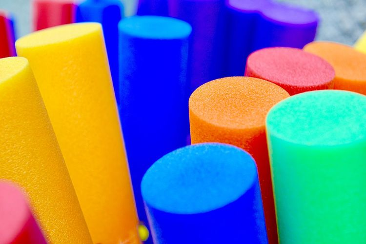 Foam Material Multi Colored Choice Variation Close-up No People Backgrounds Group Of Objects Full Frame Selective Focus Still Life High Angle View In A Row Shape Large Group Of Objects Art And Craft Vibrant Color
