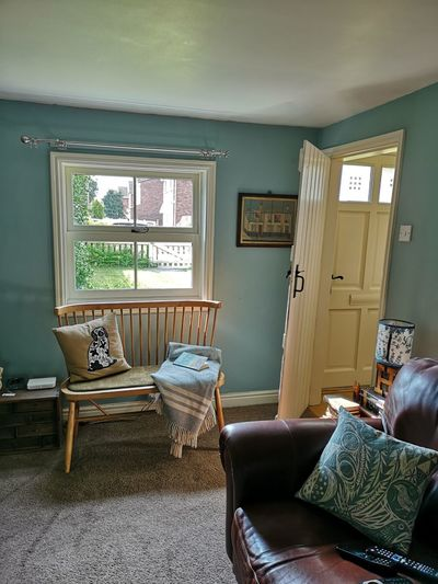 Chairs and table in room of house