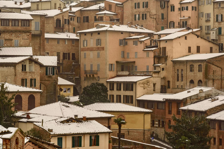 Architecture Tuscany Winter Architecture Building Exterior Buildings Built Structure City Day Italy No People Outdoors Snowfall