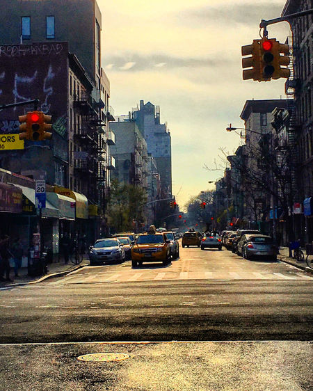 New York City Street Architecture Building Built Structure Car City City Life City Street Development Mode Of Transport Residential District Road Street Street Light Taxi Traffic Transportation