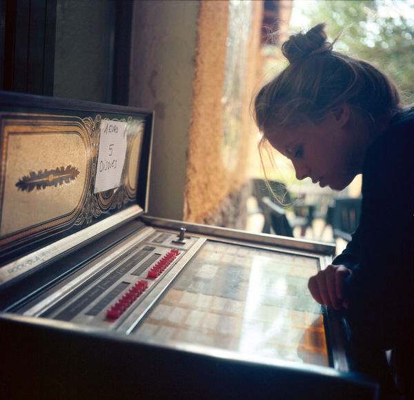 Analogue Photography Classic Corse Millenials Retro Travel Close-up Corsica Day Difficult Decision! Disc Film Photography Journey Jukebox Jukebox Cafe Oldies One Person Portriat Real People Song Vintage Young Adult Young Women EyeEmNewHere Summer Exploratorium The Portraitist - 2018 EyeEm Awards