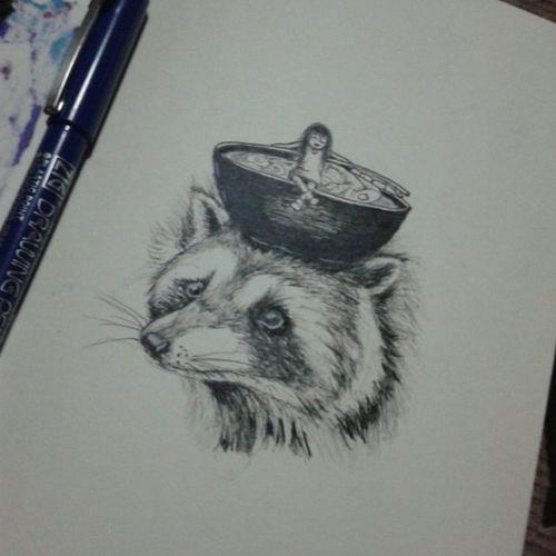 bandit. day 27 Inktober Sketchbook Drawing Doodle