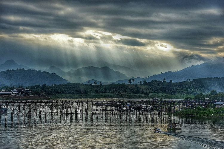 Mountain Landscape Mountain Range Water Nature Outdoors Tree Lake Beauty In Nature Day Sky Thailand🇹🇭