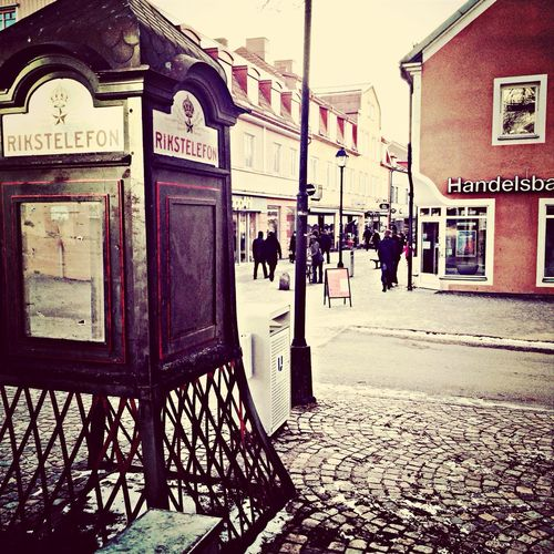 Ulricehamn Sweden Telephone Box Old City