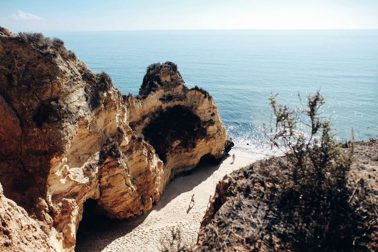 Top of the cliffs. Algarve Beach Cliff Day Lagos Nature Outdoors Portugal Rock Formation Sea Tranquility Water