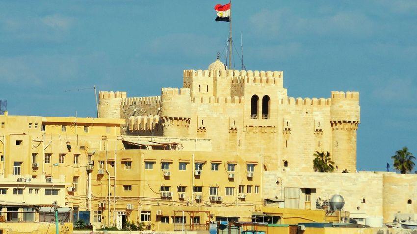 Citadel Qaitbay Architecture Egypt Alexandria Egypt Building Exterior Built Structure Water Flag City No People Nautical Vessel Outdoors