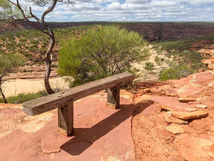 Scenic View: Meditation Bench, Kalbarri Connected With Nature Hiking Colors Of Nature Travel Destinations Nature Landscape Rock Sandstone Cliffs Kalbarri Bench Meditation Place Meditation Seat Nature Textures Nature's Design Travel Photography Western Australia Australia Landscape_Collection Sandstone Geological Peaceful View Scenics Wide Open Spaces The Great Outdoors - 2016 EyeEm Awards