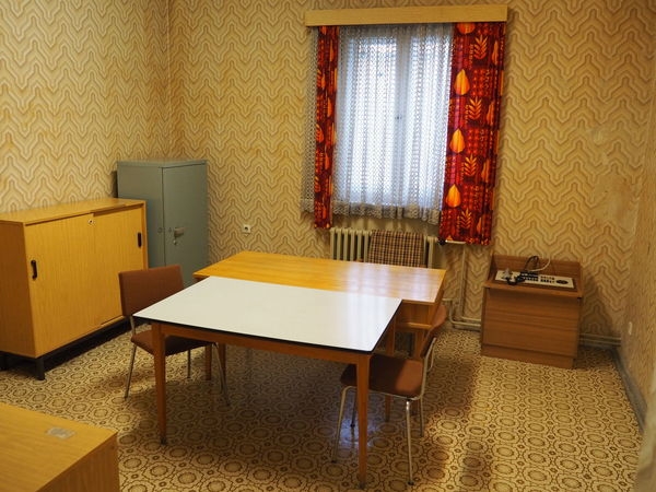 Gedankstätte, Berlin, Stasi 70s Absence Chair Empty Home Interior Indoors  Old Fashioned Ostalgie Sitting Table Wood