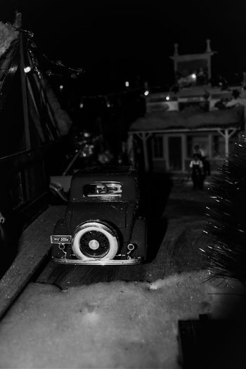 1940s Creativity Black And White Collection  Building Exterior Built Structure Close-up Creative Power Hobbies Illuminated Minature Car Miniature Miniature Town Mode Of Transport No People Still Life Train Layout