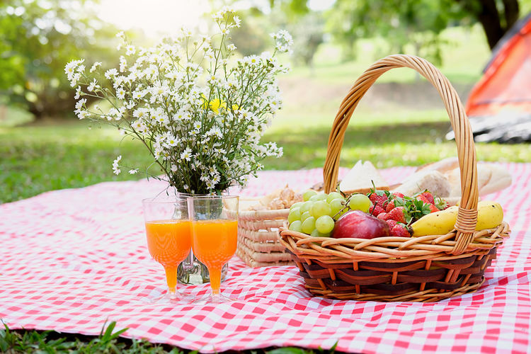 Basket Beauty In Nature Close-up Day Drink Drinking Glass Food Food And Drink Freshness Fruit Grass Healthy Eating Healthy Lifestyle Nature No People Outdoors Picnic Picnic Basket Picnic Blanket Refreshment Summer Table Tablecloth Wineglass