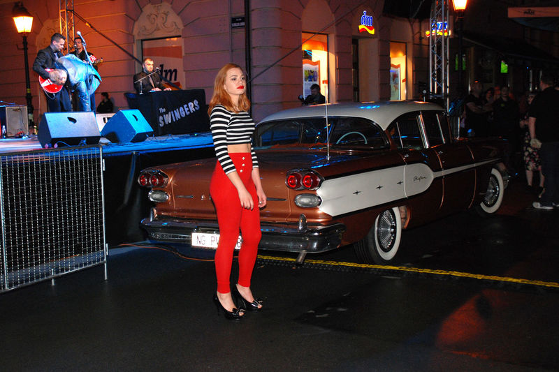 pin up girl and Cadillac From Retro Festival Last Summer In Bjelovar