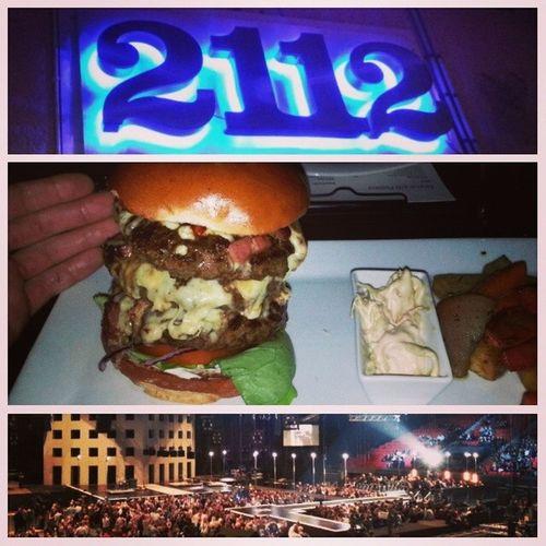 Umgåtts med @amandamoden Linn och Thomas ikväll. Åt på restaurang 2112. Åt en beast-hamburgare på 666 gram. Svingod! Därefter blev det P3 Guld. Härlig kväll! 666 P3guld
