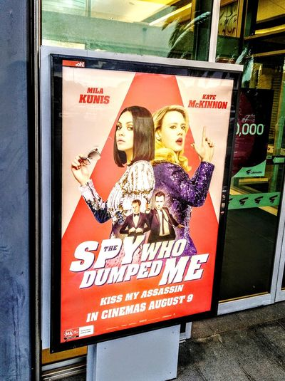 CinemaPosters Cinema Poster Movieposter MOVIE Text And Images Text&images Illuminated Signs Illuminated KateMcKinnon Milakunis Kiss My Ass! Kissmyass KissMyAssassin TheSpyWhoDumpedMe Posters Movie Poster Kate McKinnon Mila Kunis Kiss My Assassin The Spy Who Dumped Me Sign Illuminated Signs WesternScript Signs Text Signboard Poster Female Likeness Information Sign Western Script