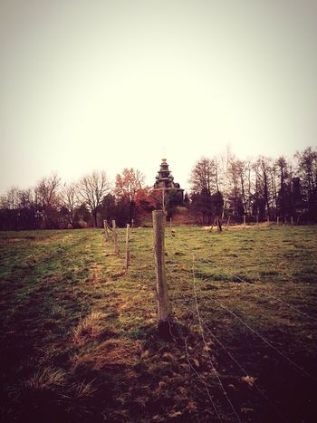 Mother Russia in Germany Pasture Fences Church Russian Orthodox Church Gifhorn Nature