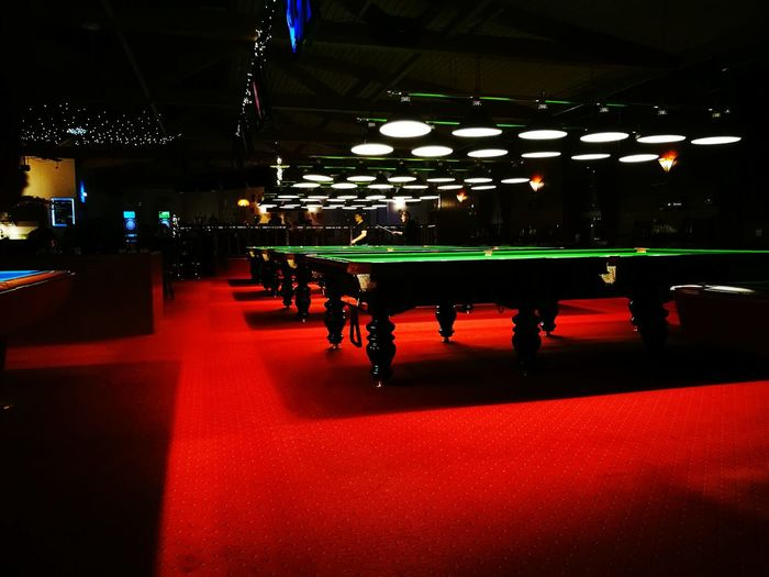 No People Indoors  In A Row Same Picture Different Filter Billard Snooker_hall HuaweiP9