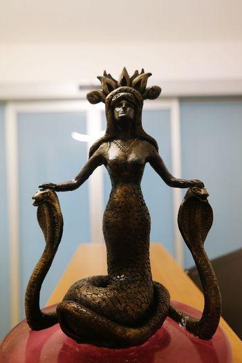 Sahmeran Snakewomen Mythological Mythology Trinket Statue No People Home Showcase Interior Yılankale Snakecastle Legendary Mythological Creature MythologyInspiration Mitology Mitología Snake