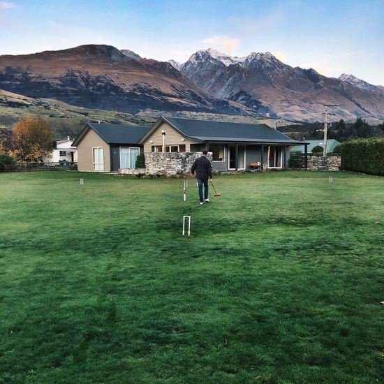 Staycation Vacation Spending Time With Friends Croquet Building Exterior Grass Architecture Built Structure Full Length Building Plant House