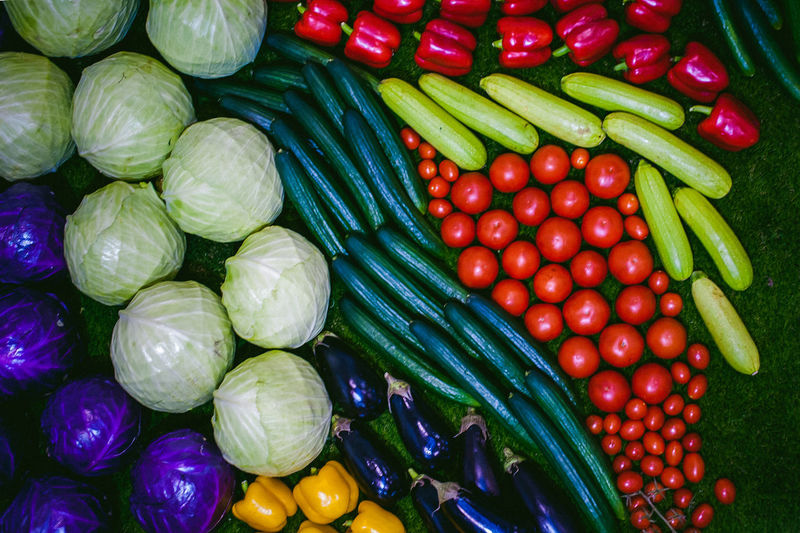 Abundance Agriculture Backgrounds Bean Close-up Day Food Food And Drink Freshness Full Frame Green Color Groceries Healthy Eating High Angle View Large Group Of Objects Market Multi Colored No People Outdoors Raw Food Red Supermarket Variation Vegetable