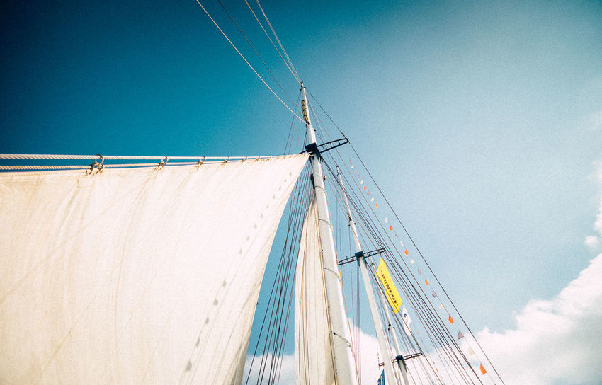 Sky And Clouds VSCO Blue Day Leica Low Angle View Mast Nature Nautical Vessel No People Outdoors Sky Transportation