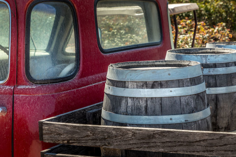 Wine Truck Vintage Barrel Delivery Open California Old Vineyard Light Barrels Blue Unusual Pickup Sonoma Business Background Travel Retro Nobody Drink Transport Beer Wooden France Valley Outdoors Country Car Vehicle Wines Back Italy Red Texas Transportation Wood - Material Close-up Mode Of Transportation No People