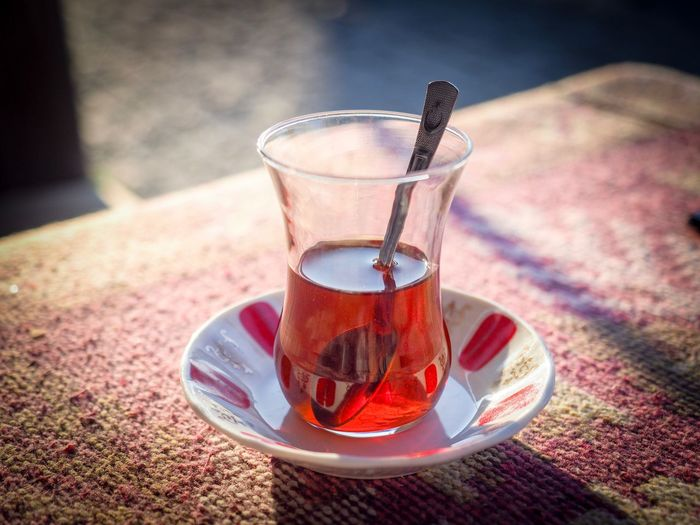 Turkish tea 1/2 Turkish Tea Drink Refreshment Food And Drink Tea Glass Table Tea - Hot Drink Saucer Close-up Household Equipment Drinking Glass Freshness Hot Drink Still Life Glass - Material