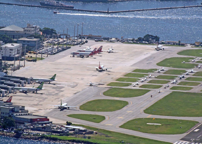 Rio de Janeiro airport - Rio, Brasil Architecture Sea Water Nature City Airplane Sky Day Outdoors Transportation Aerial View No People International Airport High Angle View Building Exterior Built Structure Aircraft On Runway Aerial Shot Of Rio Rio Airport
