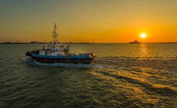 Harbour View Ship Portklang Selangor Northport Sunset Sea Transportation Business Finance And Industry Water Nautical Vessel First Eyeem Photo