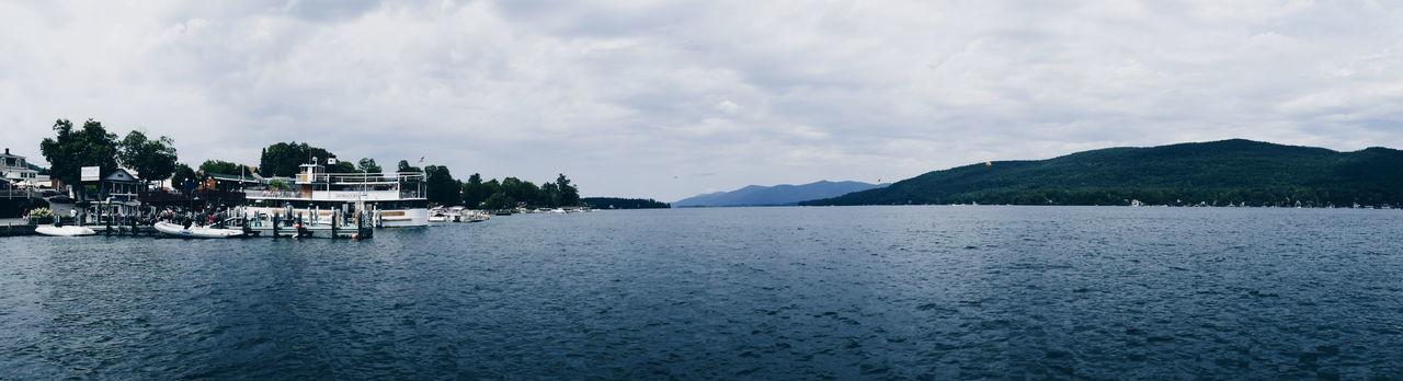 Multi Colored Beauty In Nature Outdoors Motion Arts Culture And Entertainment Sky Water Ship Boat Boating Lake Lake George NY New York Adirondack Mountains Adirondacks Adirondack