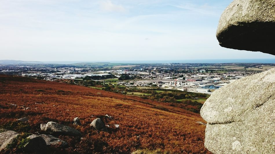Carn Brea cornwall hiking autumnal