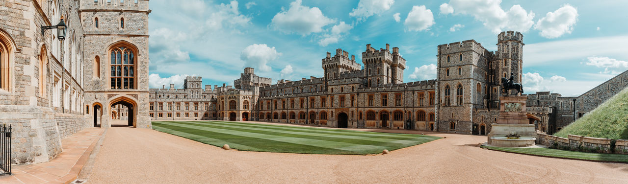 Windsor Castle Britian England Castle Built Structure Architecture Building Exterior Sky The Past History Building Cloud - Sky Travel Destinations Day Nature Old City Window Travel No People Arch Religion Place Of Worship Panoramic Outdoors