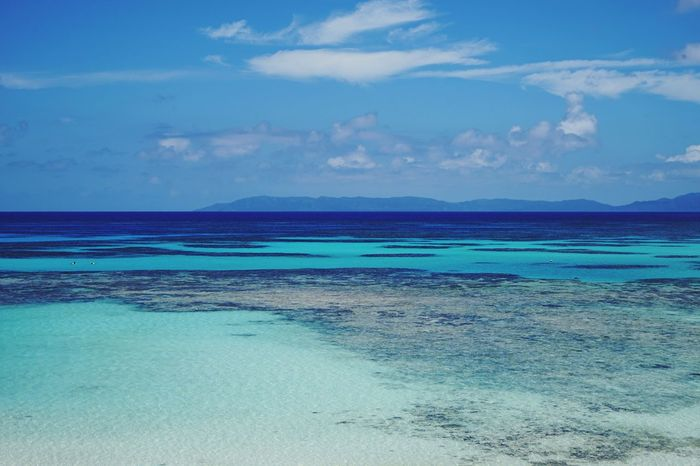 沖縄県 ( Okinawa ) 波照間島 ( Haterumajima )の 西の浜 ( Nishinohama )の風景です