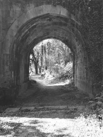 Arch Architecture Camino CaminodeSantiago HuaweiP9 Monochrome Monochrome Photography Oo Travel Tunnel