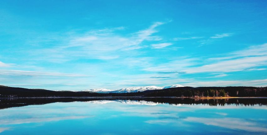 Water Reflection Sky Mountain Beauty In Nature Nature Tranquil Scene Scenics Blue Waterfront Cloud - Sky Outdoors Day Landscape Landscape_Collection Snowcapped Mountain
