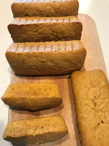 Christmas Baking Pumpkin Bread Food Food And Drink Stack Bread Healthy Eating No People Close-up Loaf Of Bread