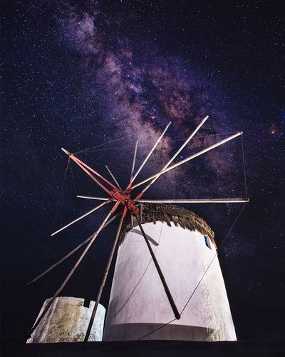 Star - Space Milky Way Astronomy Space Galaxy Constellation Night No People Windmill Nature Nightphotography Arts Culture And EntertainmentNightshot Night Photography Mukonos Photography Photooftheday Travel Photography Travelphotography Travelgram Travelling Photography Sky Outdoors First Eyeem Photo