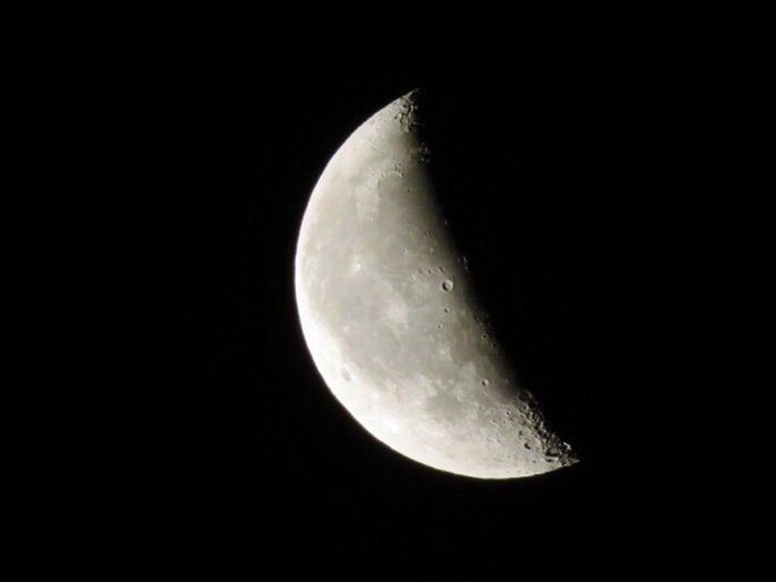 Astronomy Moon Night Moon Surface Astrophotography Craters Planetary Moon Majestic Nature Space Exploration Half Moon Scenics Space Tranquility Tranquil Scene Crescent Outdoors Sky No People Clear Sky Close-up
