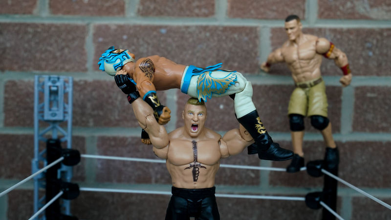 Actionfigurecollections Actionfigurephotography Actionfigures BrockLesnar Check This Out Creativity Focus On Foreground JohnCena Kids Toy Selective Focus Toy Photography Toyphotography Toys Wwe WWE RAW