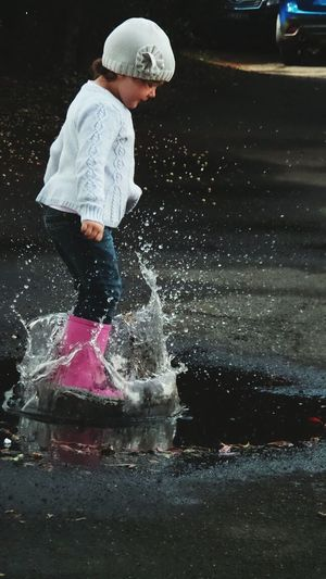 Everyday Joy Jumping Puddles Daughter