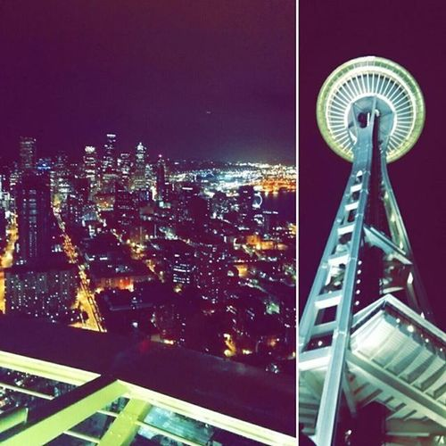 Spent the last night in Seattle at the Spaceneedle . 520ft above ground, I'm wayyy up, I feel blessed. DeucesSeattle