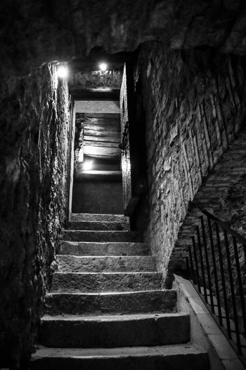 Montefusco Avellino Carcere Borbonico BW_photography Bw Staircase Steps And Staircases Architecture The Way Forward Direction Built Structure Railing